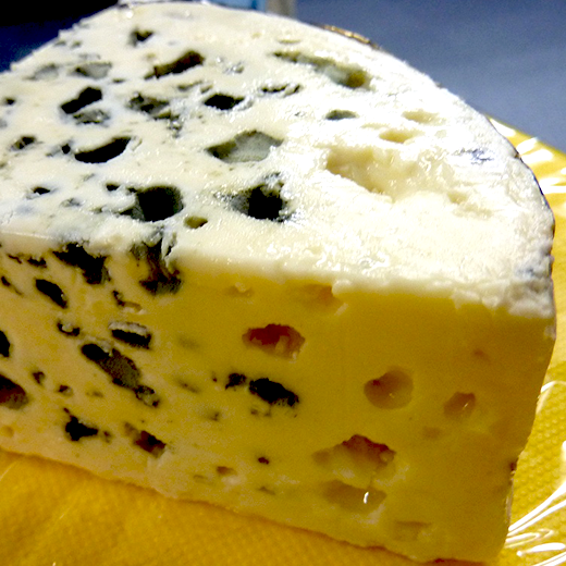 Blue rind cheese
